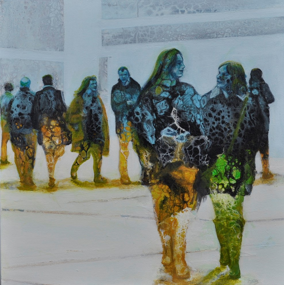 CONTEMPORARY WORK (figurative) - Commuters No.1