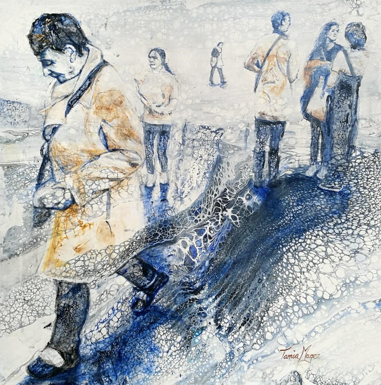 CONTEMPORARY WORK (figurative) - Commuters No.2