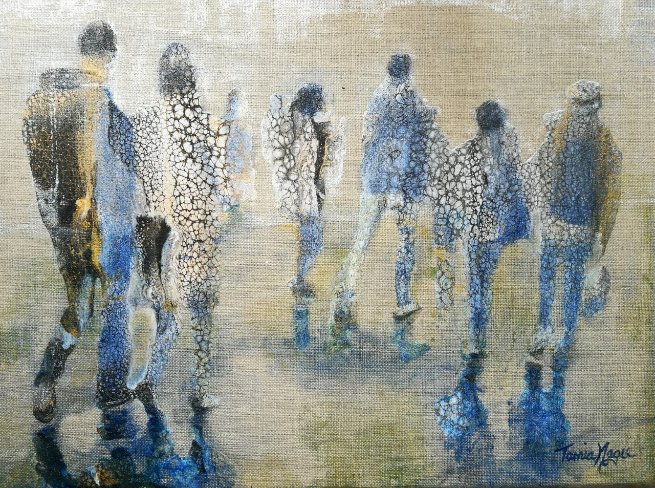 CONTEMPORARY WORK (figurative) - Commuters No.3, SOLD