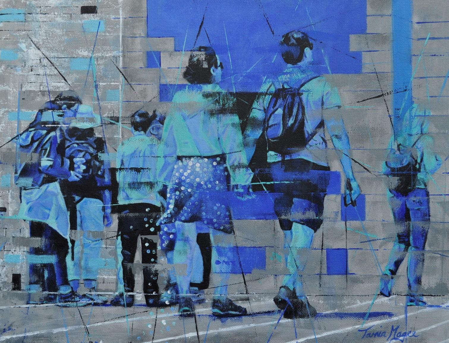 CONTEMPORARY WORK (figurative) 36cm x 46cm Transient 6