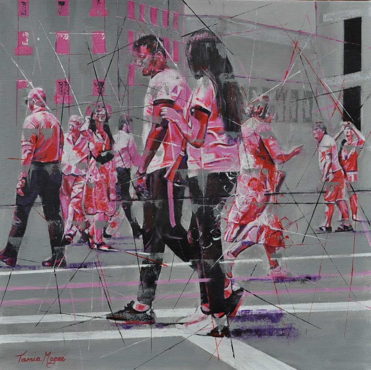 CONTEMPORARY WORK (figurative) 40cm x 40cm Transient 7